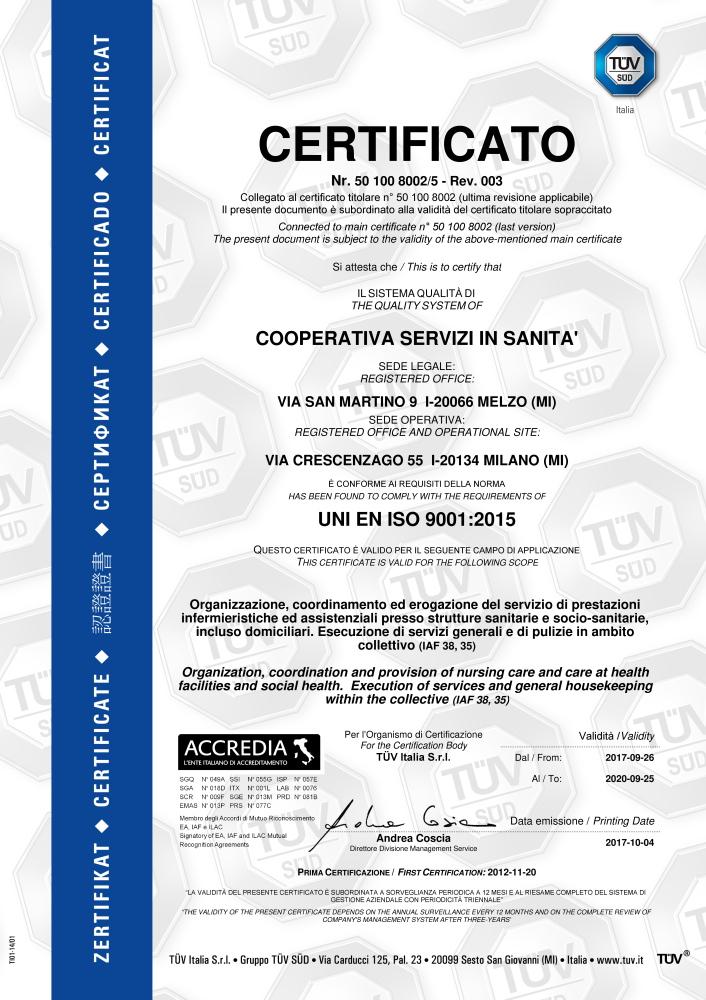 CERT8002BARRA5REV003 (COOPERATIVA SERVIZI IN SANITA')-001